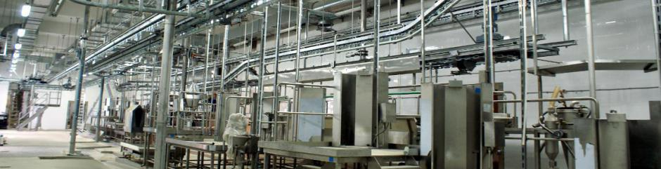 Монтаж технологического оборудования предприятий по убою и переработке мяса свиней